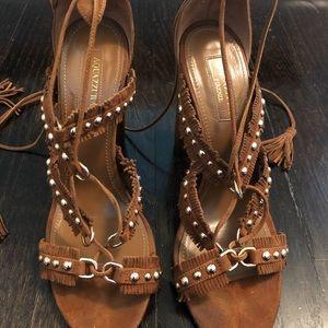 Aquazzura suede studded sandal
